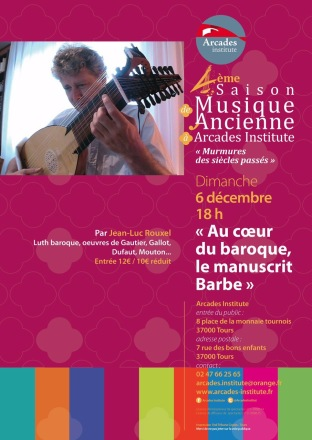 Concert à Tours le dimanche 6 décembre 2015